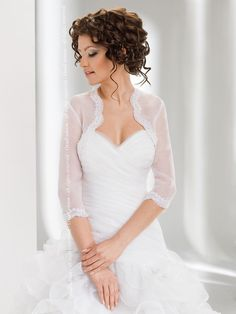 Wedding Bridal Top Lace Organza Bolero/Shrug/Jacket/Stole/Shawl S-XXXL | eBay