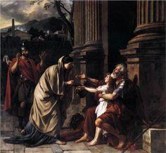 Belisarius Begging for Alms - Jacques-Louis David
