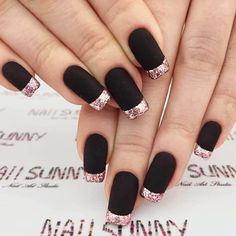 50 Dramatic Black Acrylic Nail Designs to Keep Your Style On Point - #accentnails #accent #nails
