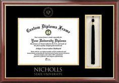 Nicholls State Diploma Frame and Tassel Box