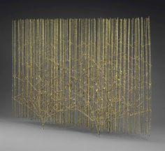 Screen Tree by Harry Bertoia Harry Bertoia, Sculpture Art, Sculptures, Room Divider Screen, Room Dividers, Hotel France, Conceptual Design, Screen Design, Mermaid Beach