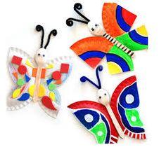 Summer crafts--paper plates and spoons :) Paper Plate Art, Paper Plate Crafts, Paper Plates, Kids Crafts, Summer Crafts, Craft Projects, Craft Ideas, Kindergarten Art, Preschool Crafts