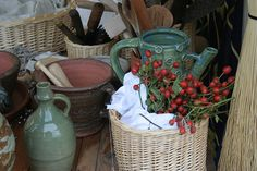 Bits and pieces | A basket of rosehips surrounded by the var… | Flickr