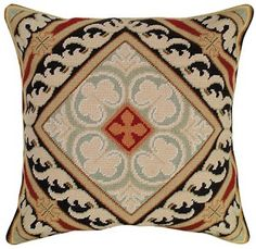 Neogothic Needlepoint Pillow  buy from Snugglebug Pillows and Throws www.snugglebugpillowsandthrows.com