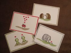Kreative-Engelmama, Stampin´Up!, Love you lots, Marienkäfer, Frosch, Igel, Elefant und Maus