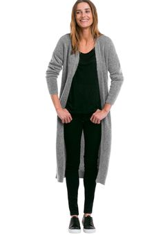 4b976f7446e Long Sleeve Duster Cardigan by Ellos amp reg  - Women s Plus Size Clothing  Curvy Fashion