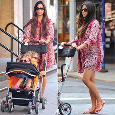 Camila Alves Wearing Printed Tunic