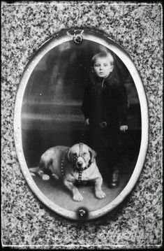 Josef Sabatka and his dog. Chicago's Bohemian National Cemetery