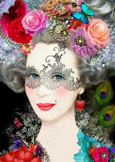 KunstdruckKönigin der Lüste  digitale von FleursBoheme auf Etsy