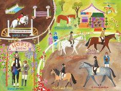 English Horse Show Canvas Art