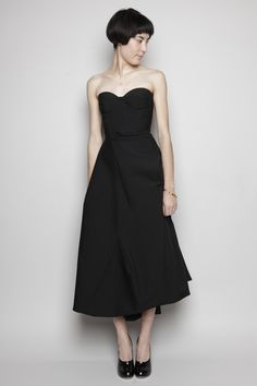 Totokaelo - Jil Sander - Madreperla Pleated Dress - Black