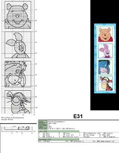 Cross stitch chart Disney bookmark Winnie the Pooh, Piglet, Eeyore, Tigger Cross Stitch For Kids, Cross Stitch Boards, Cross Stitch Love, Cross Stitch Pictures, Beaded Cross Stitch, Crochet Cross, Cross Stitch Kits, Cross Stitch Embroidery, Cross Stitch Patterns