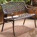 Christopher Knight Home Cozumel Antique Copper Cast Aluminum Bench | Overstock.com Shopping - The Best Deals on Outdoor Benches