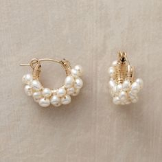 Froth Of Pearls Hoops from Sundance on Catalog Spree