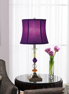 Purple Bijoux Table Lamp - Lamps For Bedrooms - Amazon.com