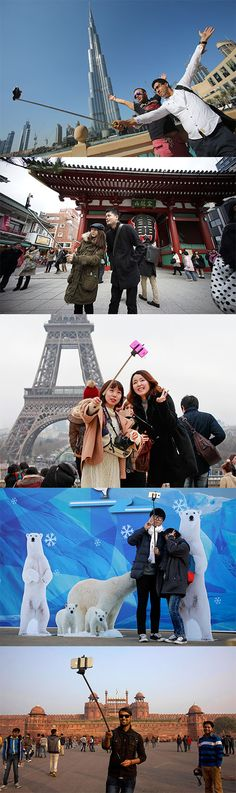 Rise of the selfie stick: A global tour.
