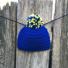 St Louis Blues themed Baby Hat, Baby Beanie, Crocheted Baby Hat, Photo Prop