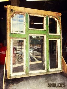 A truly special piece of vintage architectural salvage! #crustygoodness Late 1800's window installation😃 #coolfinds #coolstuff #vintagearchitecturalsalvage #schillers