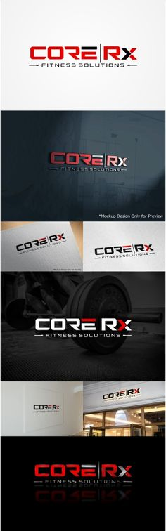 Core Rx Fitness Solutions Logo design for perso... Upmarket, Bold Logo Design by Liyana