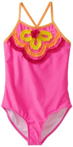Love U Lots Big Girls' One Piece Bathing Suit with Ruffle Design Bikini Galleries, Swimsuits, Bikinis, Swimwear, Girls Belts, Pink Castle, Tankini, Bathing Suits, Larger