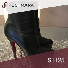 Christian Louboutin Lady Daf Ankle Bootie Christian Louboutin Shoes Ankle Boots  Booties