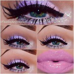 make up guide Soft Sweet - Trends Style make up glitter;make up brushes guide;make up samples; Cute Makeup, Gorgeous Makeup, Pretty Makeup, Makeup Art, Beauty Makeup, Makeup Ideas, Sweet Makeup, Pastel Makeup, Purple Makeup