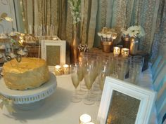 - Gold Party Decor - Mom's 50th birthday party