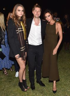 L.A.'s Brightest Stars Descend on the Griffith Observatory for a Massive Restaging of Burberry's Fall Show - Cara Delevingne, Christopher Bailey, and Victoria Beckham.