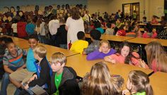 Heifer Internationl Book Donation at McGehee Elementary School during AIA's National Architecture Week