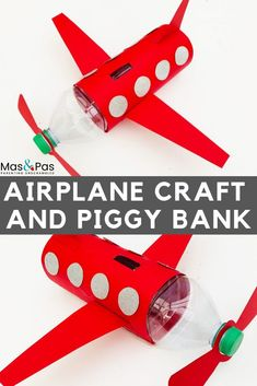 Plastic bottle airplane craft for kids Time: 15 minutes Age: Little kids to big kids Difficulty: Easy peasy Boy Diy Crafts, Recycled Crafts Kids, Easy Crafts For Kids, Craft Activities For Kids, Craft Kids, Recycle Crafts, Arts And Crafts For Kids For Summer, Reuse Recycle, Preschool Crafts
