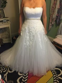 This strapless wedding gown has pretty lace detailing.  If you are shopping for elegant plus size wedding dresses you can customize this is one to consider.  We also make #replicaweddingdresses too.  So if your dream gown is out of your price range email us the picture for pricing.  Get more info at wwww.DariusCordell.com