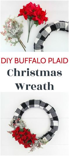 I'm a huge fan of Buffalo Plaid Christmas Decor and this DIY buffalo plaid wreath is an easy way to add some buffalo plaid to your own home this Christmas. With an easy to follow step-by-step tutorial.