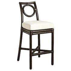 McGuire Furniture: Thomas Pheasant Round Back Counter Stool: O-413