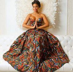 Its African inspired. Its African inspired. African Dresses For Women, African Print Dresses, African Attire, African Wear, African Women, African Prints, African Style, African Inspired Fashion, African Print Fashion