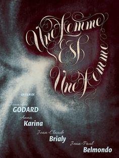 Une Femme Est Une Femme / A Woman Is a Woman 1961 Godard #AlternativeFilmPoster by Juan Villanueva