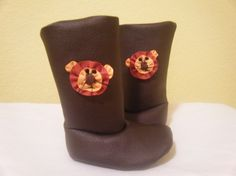 Lion Toddler Boots - pattern by ithinksew.com