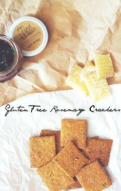 Gluten-Free Rosemary Crackers | made with nuts, seeds & millet flour