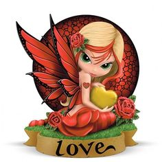 The Love Figurine From Jasmine& Fairy Virtues Collection by The Hamilton Collection Fairy Dust, Fairy Land, Fairy Figurines, Love Fairy, Baby Fairy, Saint Valentine, Valentine Ideas, Valentines, Beautiful Fairies