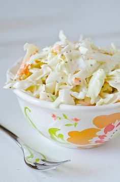 Rate a 5 - Memphis-Style Coleslaw.  I don't put bell pepper in mine, and I like to use a little red cabbage for the color.