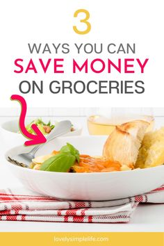Need to shrink your grocery bill to fit your monthly budget? Here are 3 hacks I use to save money on groceries. Costs are rising but with these tips you are sure to save money on food during your next grocery trip. #food #budget #groceries #saveonfood Money Saving Challenge, Money Saving Meals, Money Hacks, Save Money On Groceries, Ways To Save Money, Money Tips, Living On A Budget, Frugal Living Tips, Frugal Tips