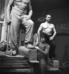Émile Savitry - Atelier de sculpture des Beaux-arts de Paris, 1939