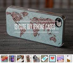 13. Map It - 13 Cute DIY IPhone Cases ... → DIY