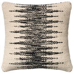 Loloi Chaney Black & Ivory Throw Pillow LODSETP0364BLIVPIL1