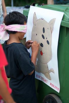 Pin the nose on the puppy