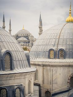 View of the Blue Mosque from a window in Aya Sophia in Istanbul, Turkey Beautiful Mosques, Beautiful Buildings, Islamic Architecture, Art And Architecture, Wonderful Places, Great Places, Aya Sophia, Turkey Destinations, Dome Structure