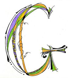 lettering letter G for Gaile Doodle Lettering, Creative Lettering, Lettering Styles, Fancy Letters, Letters And Numbers, Doodle Drawings, Doodle Art, Doodle Alphabet, Abc Letra