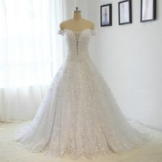 Amazing Lace Wedding Dress Off the shoulder Sexy
