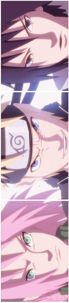 Naruto, Sasuke y Sakura (Team Kakashi / Team Naruto Uzumaki, Anime Naruto, Manga Anime, Naruto Y Sasuke, Naruto Team 7, Kakashi Hatake, Sasunaru, Narusasu, Naruto Family