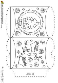 Dessin à colorier d'une pochette de Noël mon beau sapin - Hugolescargot.com