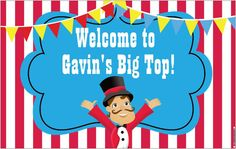 4ft x 25ft Vinyl Banner Circus Carnival by PartyPlanItDesigns, $40.00